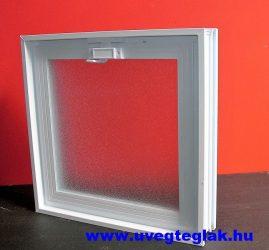 Műanyag üvegtégla ablak 4-es 38,5x38,5x8cm méretű