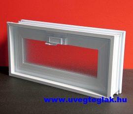 Műanyag üvegtégla ablak 2-es 38,5x19x8cm méretű  fekvő