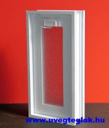 Műanyag üvegtégla szellőző ablak 2-es 19x38,5x8cm méretű álló