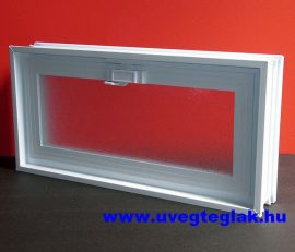Műanyag üvegtégla ablak 24x48,5x8cm méretű