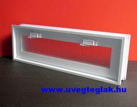 Műanyag üvegtégla ablak 3-as 58x19x8cm méretű  fekvő