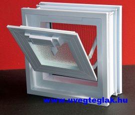 Műanyag üvegtégla ablak 1-es 19x19x8cm méretű