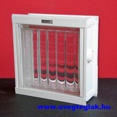Fém üvegtégla szellőző ablak 24 cm üvegtéglához 1-es