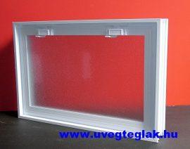 Műanyag üvegtégla ablak 6-os 58x38,5x8cm méretű  fekvő