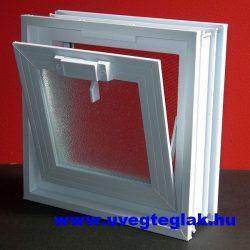 Műanyag üvegtégla ablak 24x24x8cm méretű